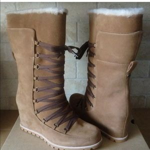 UGGS Mason Tall Lace Corset Wedge Women's Boots